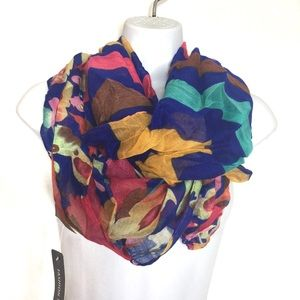 3 for $15 Blue Striped Floral Infinity Loop Scarf